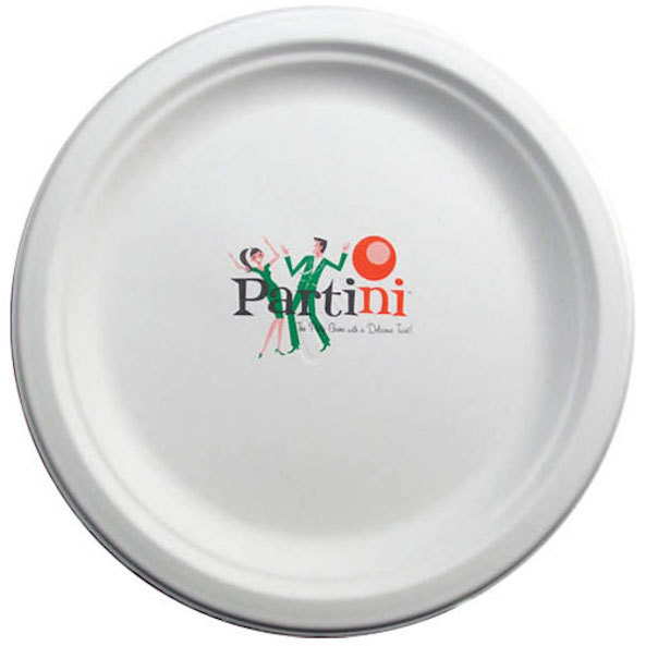 "8.75"" White Compostable Paper Plates"
