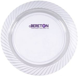 "10.25"" Clear Plastic Plates"