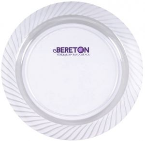 7.5\  Clear Plastic Plates  sc 1 st  Promotion Choice & Custom Plastic Plates Personalized Plastic Plates Imprinted With ...