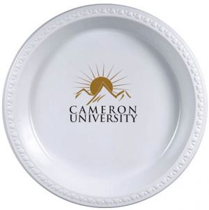 10.25  White Plastic Plates  sc 1 st  Promotion Choice & Custom Plastic Plates Personalized Plastic Plates Imprinted With ...