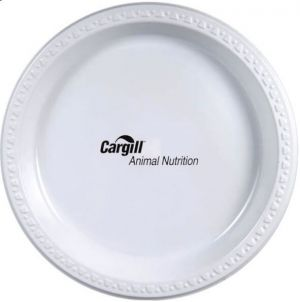 "9"" White Plastic Plates"