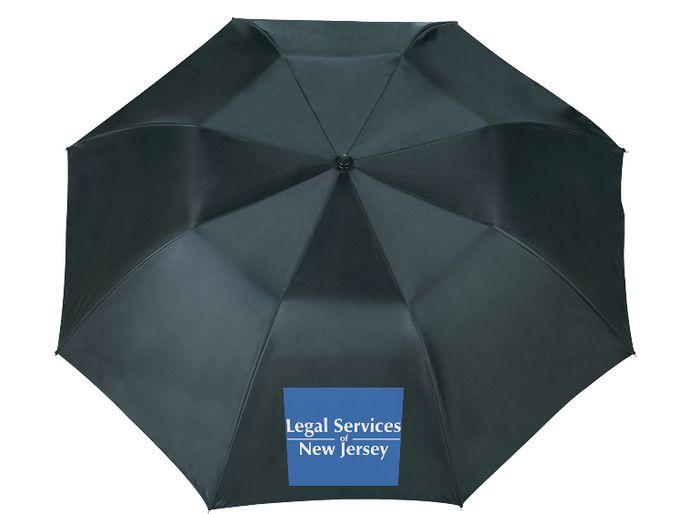 "46"" Blue Skies Auto Folding Umbrellas - Black"