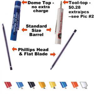 Reversible Blade Pocket Screwdrivers
