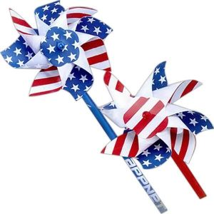 "4"" Patriotic With 10"" Sticks Pinwheels"