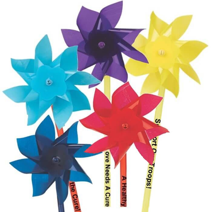 "4"" Plastic Pinwheels"
