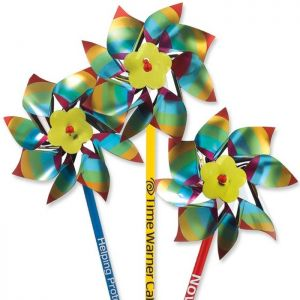 "4"" Rainbow Colored Pinwheels"