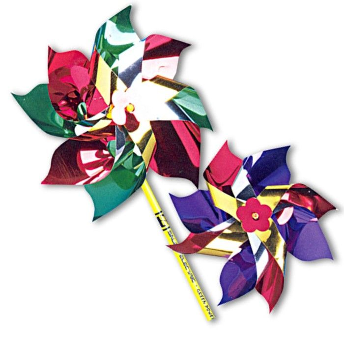 "6"" Assorted Color Pinwheels"