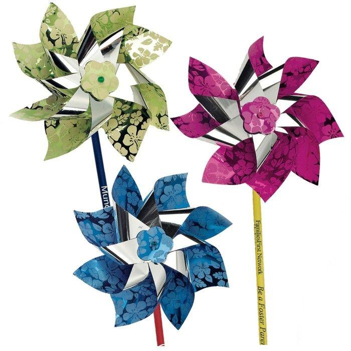 """6"""" Metallic Hibiscus Pinwheels"""