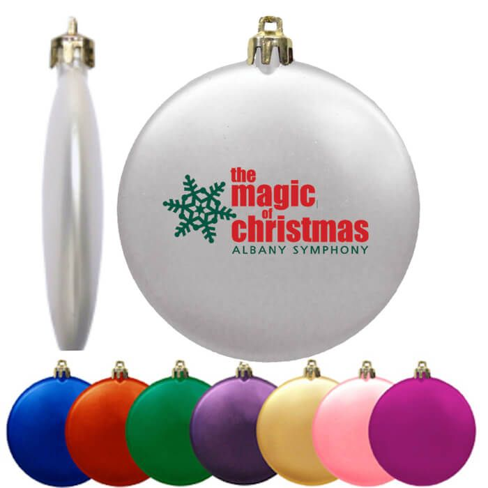 Flat Shatterproof Ornaments Satin Finish