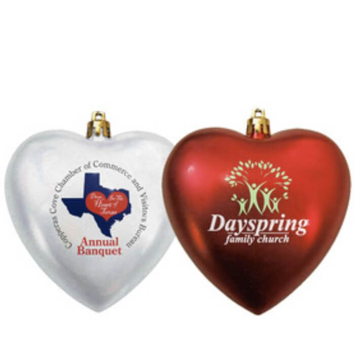 Personalized Heart Shatterproof Ornaments