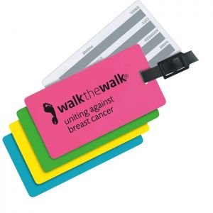 Neon Write On Back Luggage Tags