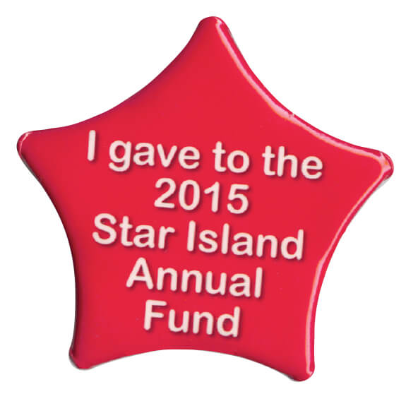 Star Shaped Printed Buttons - 2.25""