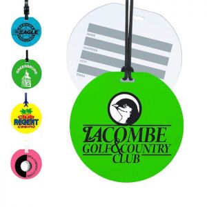 Round Neon Luggage Tags