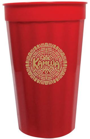22oz Fluted Stadium Cups - Red