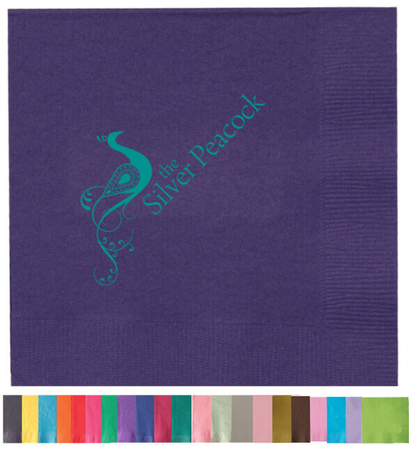 2-Ply Colored Beverage Napkins - Low Qty