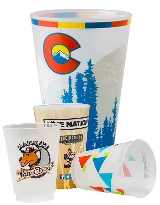 20oz Plastic Frosted Cups