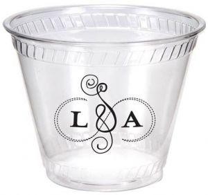 9oz Flexible Eco Friendly Clear Plastic Cups