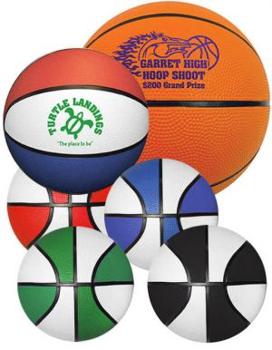 "5"" Rubber Basketballs"