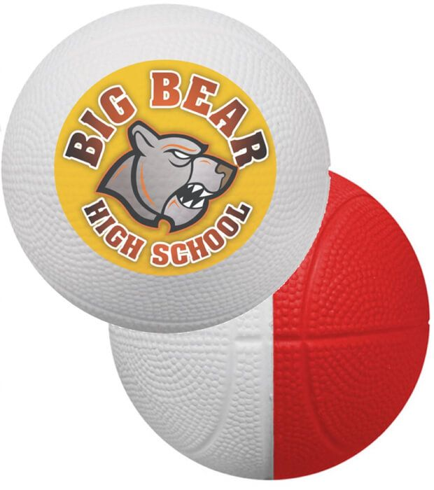 Two-Tone Mini Foam Basketballs