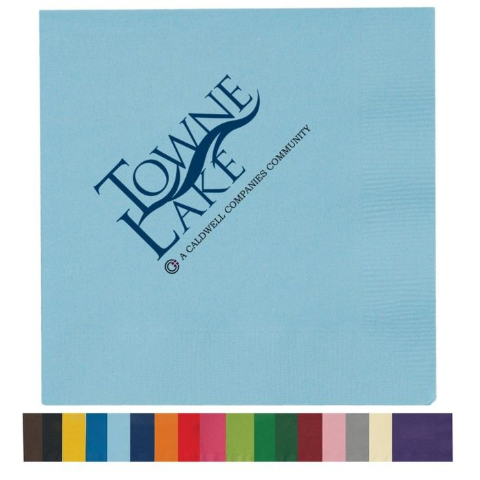 2-Ply Multicolor Colored Beverage Napkins - Low Qty