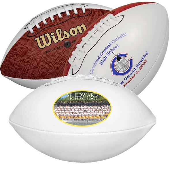 Wilson Synthetic Leather Signature Footballs