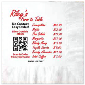 White 2-Ply Luncheon Napkins