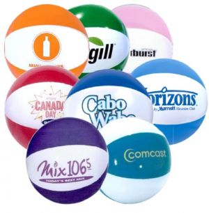 Custom Beachballs - 9 inch Two Tone Montage