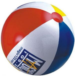 Custom 20 inch Beachballs - Red, White, Yellow, Blue