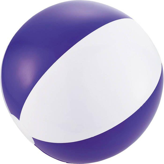 16 Inch Beach Balls - Translucent Colors - White Purple