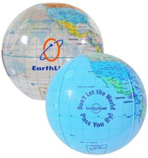 12 Inch Globe Beach Balls