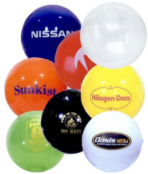36 Inch Solid Colored Beach Balls