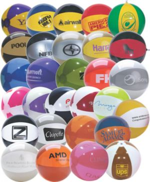 16 Inch Special Colored Two Tone Beach Balls