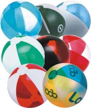 12 inch Alternating Translucent Panels Beach Balls