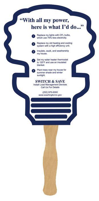 Energy Bulb Hand Fans