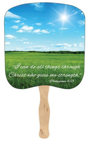 Religious Hand Fans - R17