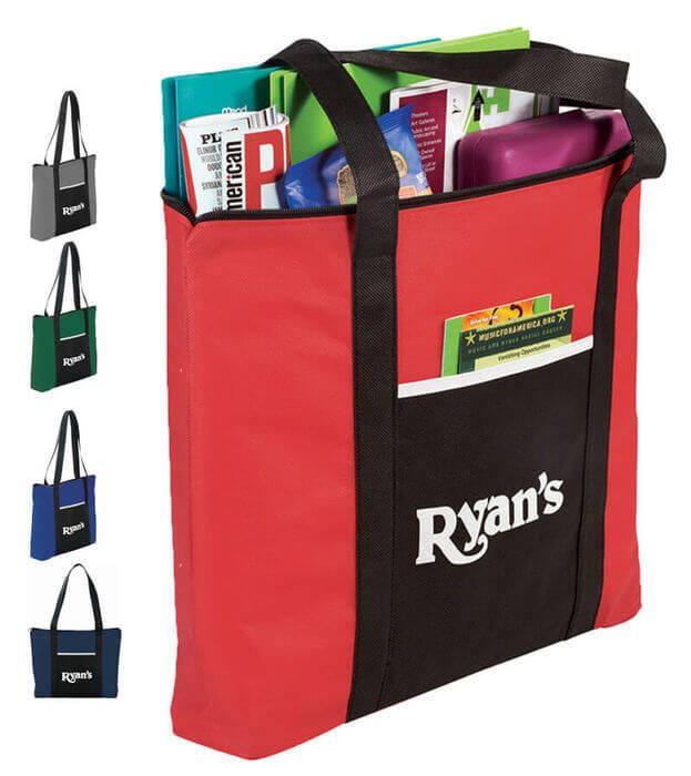 Timeline Business Tote Bags