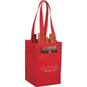 4-Pack Wine Tote Bags