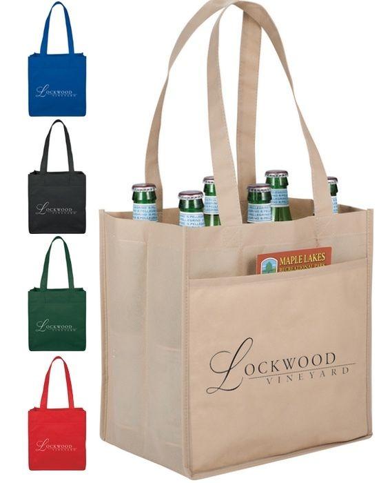 6-Pack Wine Tote Bags