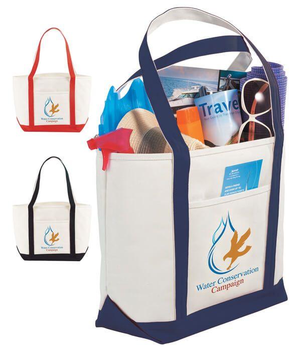 Atlantic Premium Cotton Boat Tote Bags