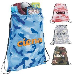 Camo Oriole Drawstring Bags
