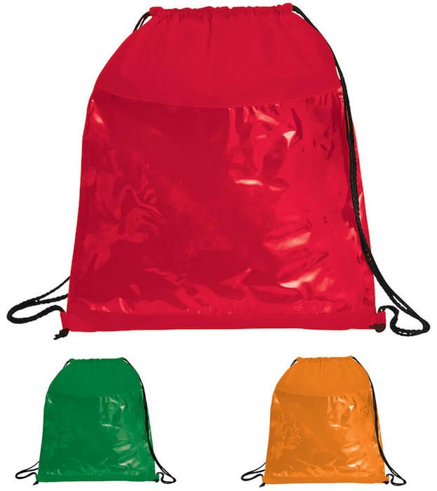 Clear Sportpack Drawstring Bags