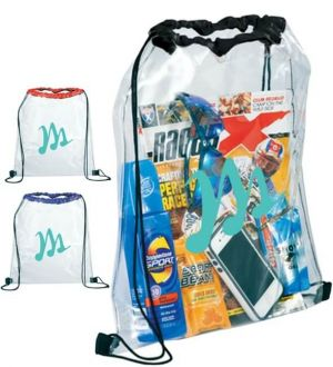 Rally Clear Drawstring Bags