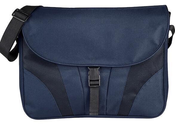 Chrome Compu Messenger Bags  - Navy Blue