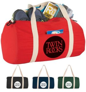 Cotton Barrel Duffel Bags