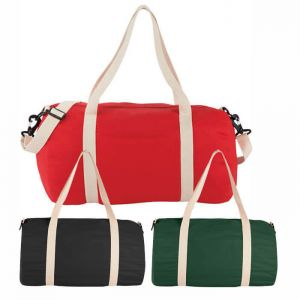 Cotton Barrel Duffel Bags