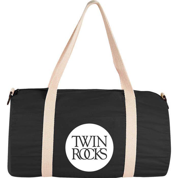 Cotton Barrel Duffel Bags - Black