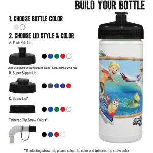 Direct Process 16 oz Sports Bottle -  Full Color Print