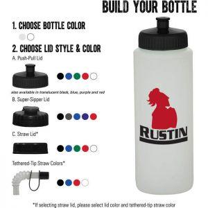 32 oz Sports Bottle - Natural/White